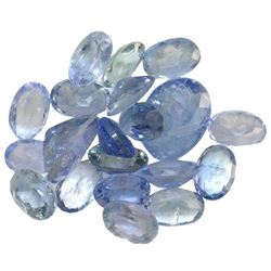 12.36 ctw Oval Mixed Tanzanite Parcel