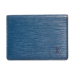 Louis Vuitton Blue Epi Leather ID Card Holder Wallet