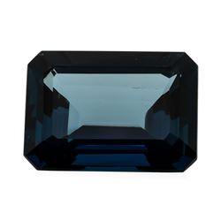 36.17 ct. Natural Emerald Cut London Blue Topaz