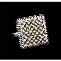 14KT White Gold 0.49 ctw Diamond Ring