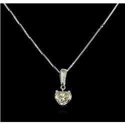 GIA Cert 1.17 ctw Diamond Pendant With Chain - 14KT White Gold