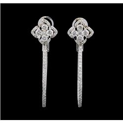 1.72 ctw Diamond Earrings - 14KT White Gold