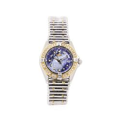 Breitling 0.50 ctw Diamond Callisto Wristwatch - Stainless Steel and 18KT Yellow