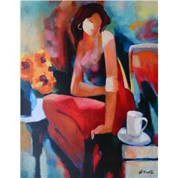 Gholam Yunessi Lady on Canvas