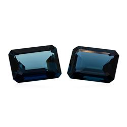 63.83 ctw. Natural Emerald Cut London Blue Topaz Parcel of Two