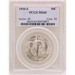 1944-S Walking Liberty Half Dollar Coin PCGS MS65