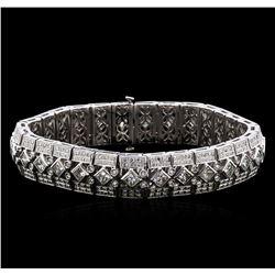 10.00 ctw Diamond Bracelet - 18KT White Gold