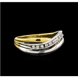 0.15 ctw Diamond Ring - 14KT Two-Tone Gold