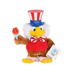 Applause 1984 USA Olympics LA Stuffed Sam the American Eagle Plush Toy with Tags