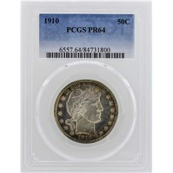 1910 Barber Half Dollar Proof Coin PCGS PR64