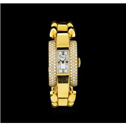 Chopard 18KT Gold 1.75 ctw Diamond La Strada Ladies Watch