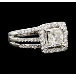 1.65 ctw Diamond Ring - 18KT White Gold