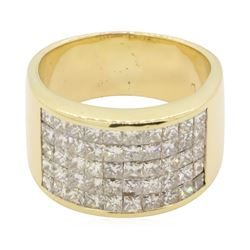 3 ctw Diamond Ring - 14KT Yellow Gold