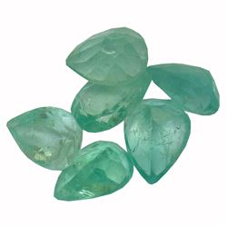 3.74 ctw Pear Mixed Emerald Parcel
