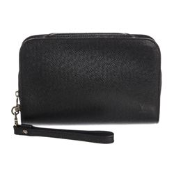 Louis Vuitton Black Taiga Leather Baikal Wristlet Clutch Bag