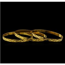 18KT Yellow Gold Bracelet Set