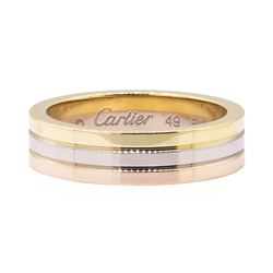 Cartier Tri-Color Wedding Band - 18KT Yellow, Rose and White Gold300