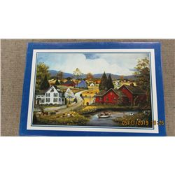 "LIKE NEW - 1000 PIECE ""RED BARN"" PUZZLE"