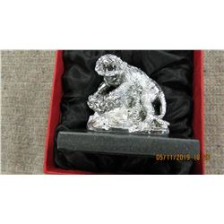 NEW - SILVERTONE TIGER ORNAMENT IN GIFT BOX