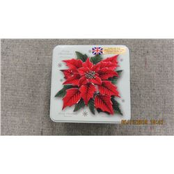 NEW - GRANDMA WILD POINSETTA TIN & COOKIES