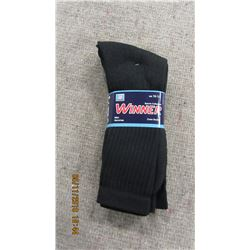 NEW - MEN'S BLACK SOCKS (3 PAIR) - PER BUNDLE