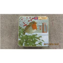 NEW - ROBIN TINS WITH TELE & PORT BOX & BISCUITS
