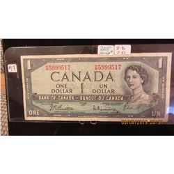 1954 BANK OF CANADA $1 BILL