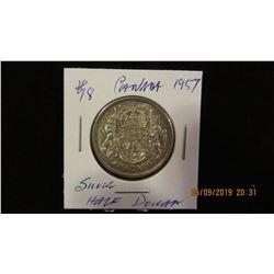 1957 CANADA SILVER HALF DOLLAR