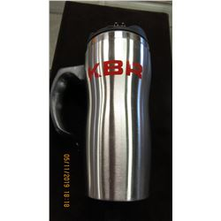 NEW - SILVER KBR THERMOS TRAVEL MUG