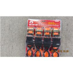 NEW - PACKAGE OF 4 RATCHET TIE DOWNS
