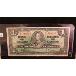 1937 CANADA KING GEORGE VI LEGAL TENDER $1 BILL