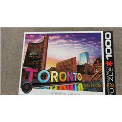 "LIKE NEW - 1000 PIECE ""TORONTO"" PUZZLE"