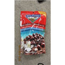 MCFARNIES MILK CHOCOLATE MACADAMIA NUTS - PER BAG