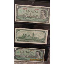 STOCK SHEET CENTENNIAL CANADA $1 BILLS