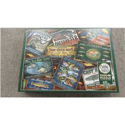"""LIKE NEW - 1000 PIECE """"FISH LURES"""" PUZZLE"""