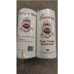 LUXURY PAPER TOWELS - 2 ROLLS