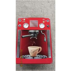NEW - EMBOSSED RED EXPRESSO TIN & BISCUITS