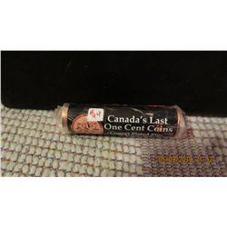 ORIGINAL ROLL CANADA'S LAST COPPER PLATED ZINC ORIGINAL ROLL OF 50 COINS