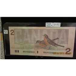 1986 BANK OF CANADA $2 BILLS