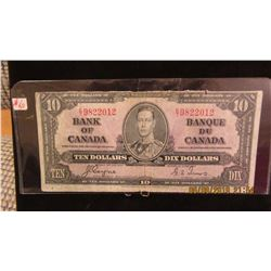 1937 BANK OF CANADA KING GEORGE VI $10 BILL