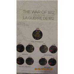WAR OF 1812 COLLECTION TOONIE & QUARTER SET