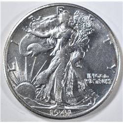 1941-S WALKING LIBERTY HALF DOLLAR, BU