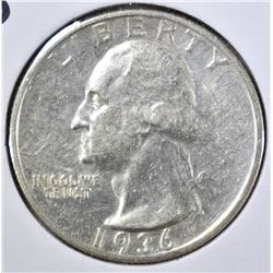 1936-S WASHINGTOPN QUARTER, AU NICE