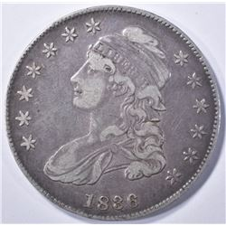1836 LETTERED EDGE BUST HALF DOLLAR, VF/XF