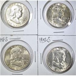 4-1951-S FRANKLIN HALF DOLLARS BU