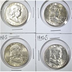 4-1951-S FRANKLIN HALF DOLLARS BU