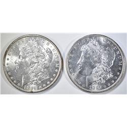 1886, 87 MORGAN DOLLARS CH BU