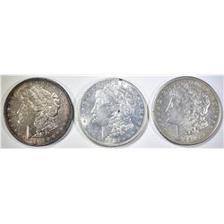 1921-P,D,S MORGAN DOLLARS AU/BU
