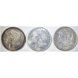 1921-P,D,S MORGAN DOLLARS AU/BU