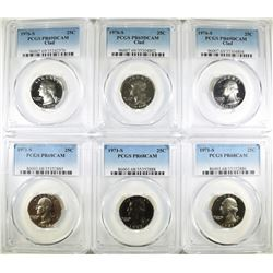 6 PROOF WASHINGTON QUARTERS